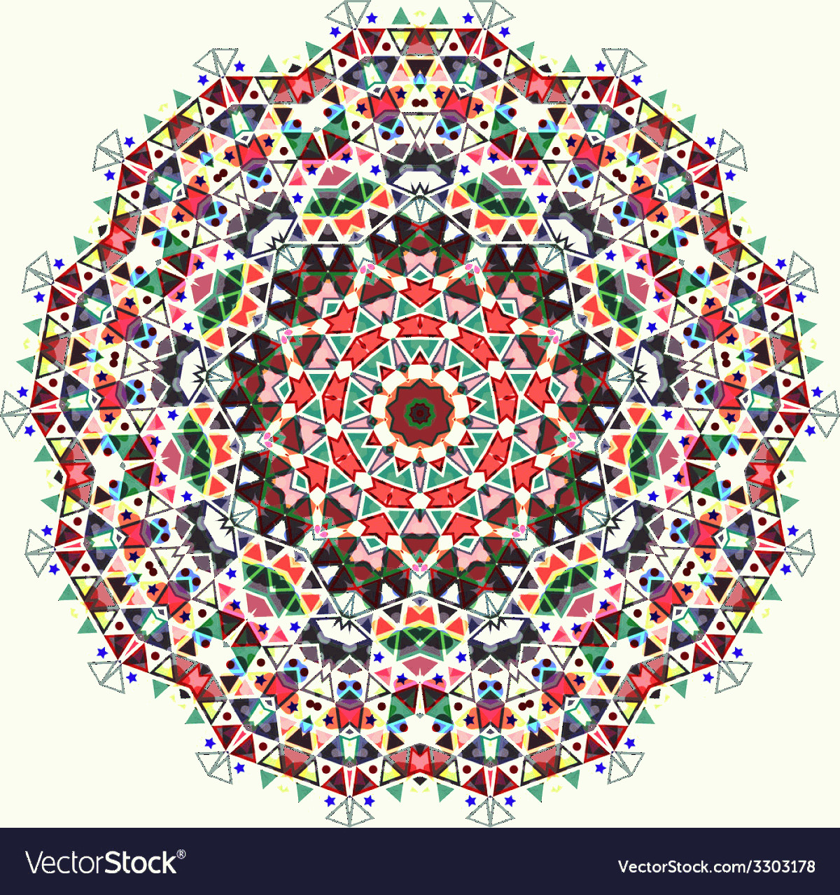 Lace Vector Images Free Clip Art: Triangular Ornamental Round Lace Vector