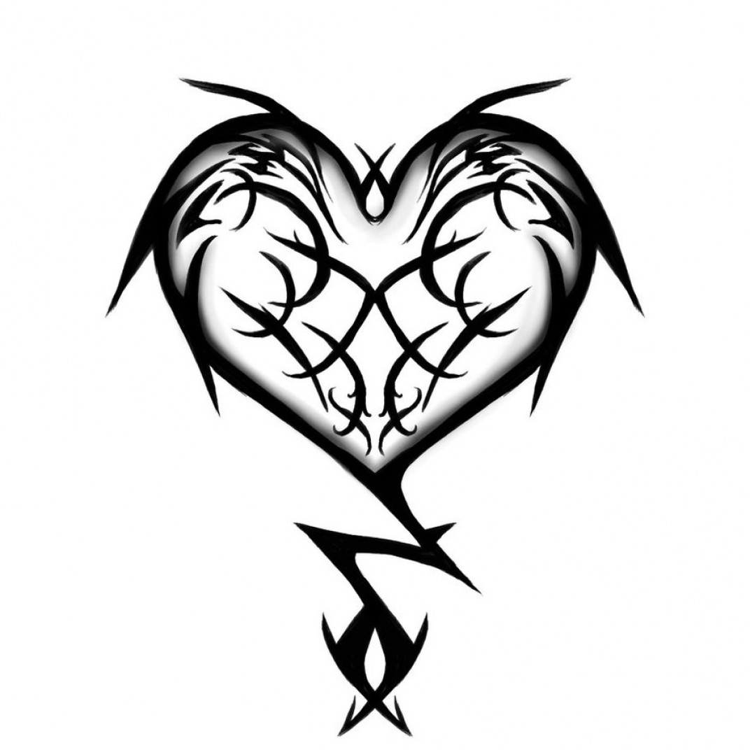 Infinity Heart Tattoo Vector: Tribal Heart And Flower Tattoo Designs
