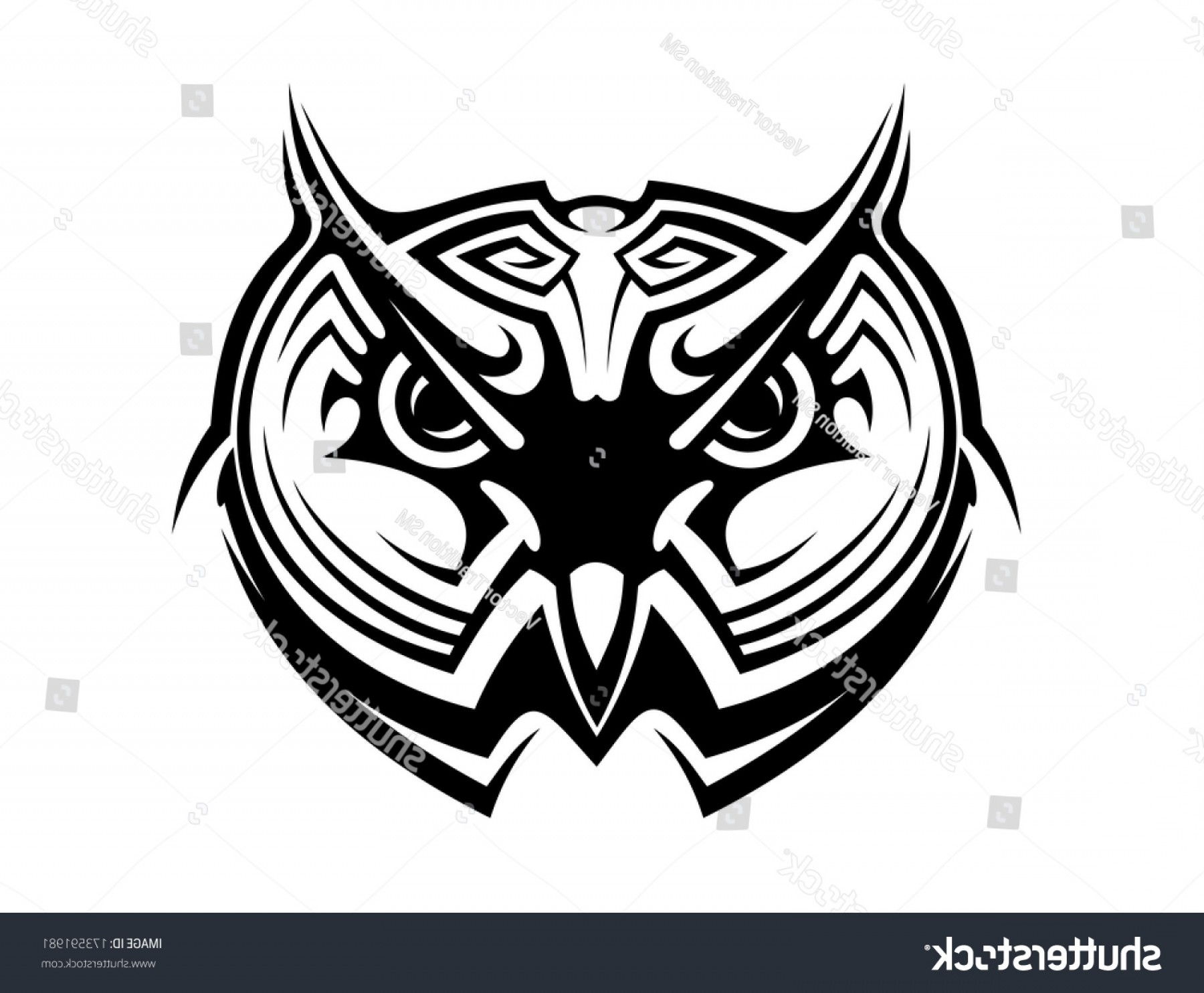 Tribal Vector Horseshoe Image: Tribal Owl Bird Tattoo Logo Mascot