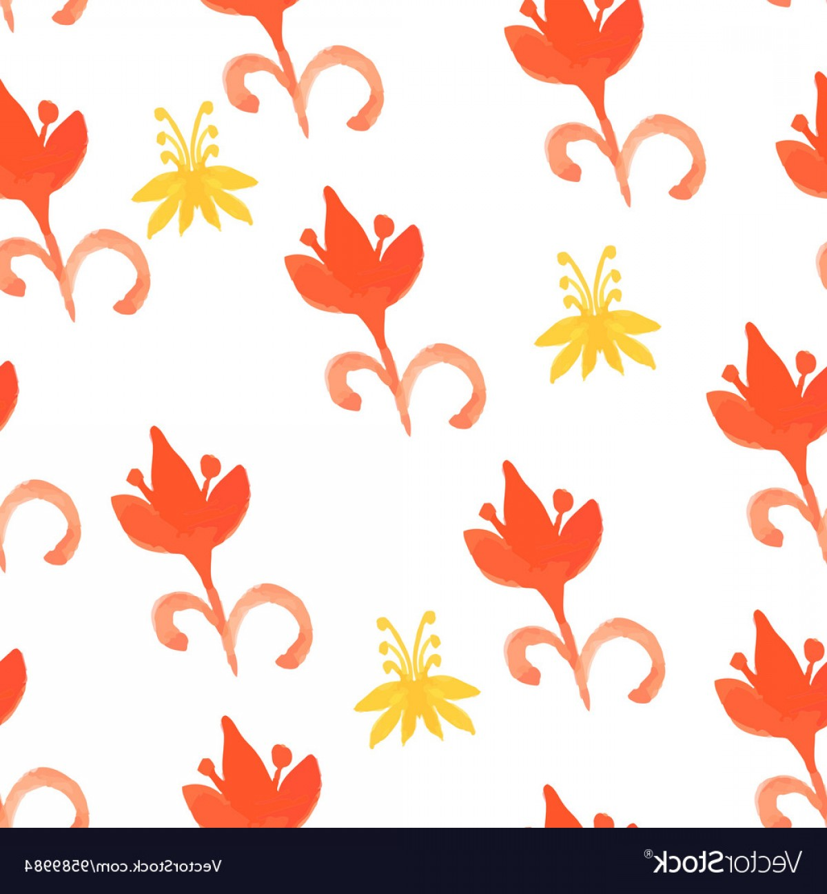 Tribal Vector Art Trees: Tribal Red Seamless Pattern With Trees Seamless Vector