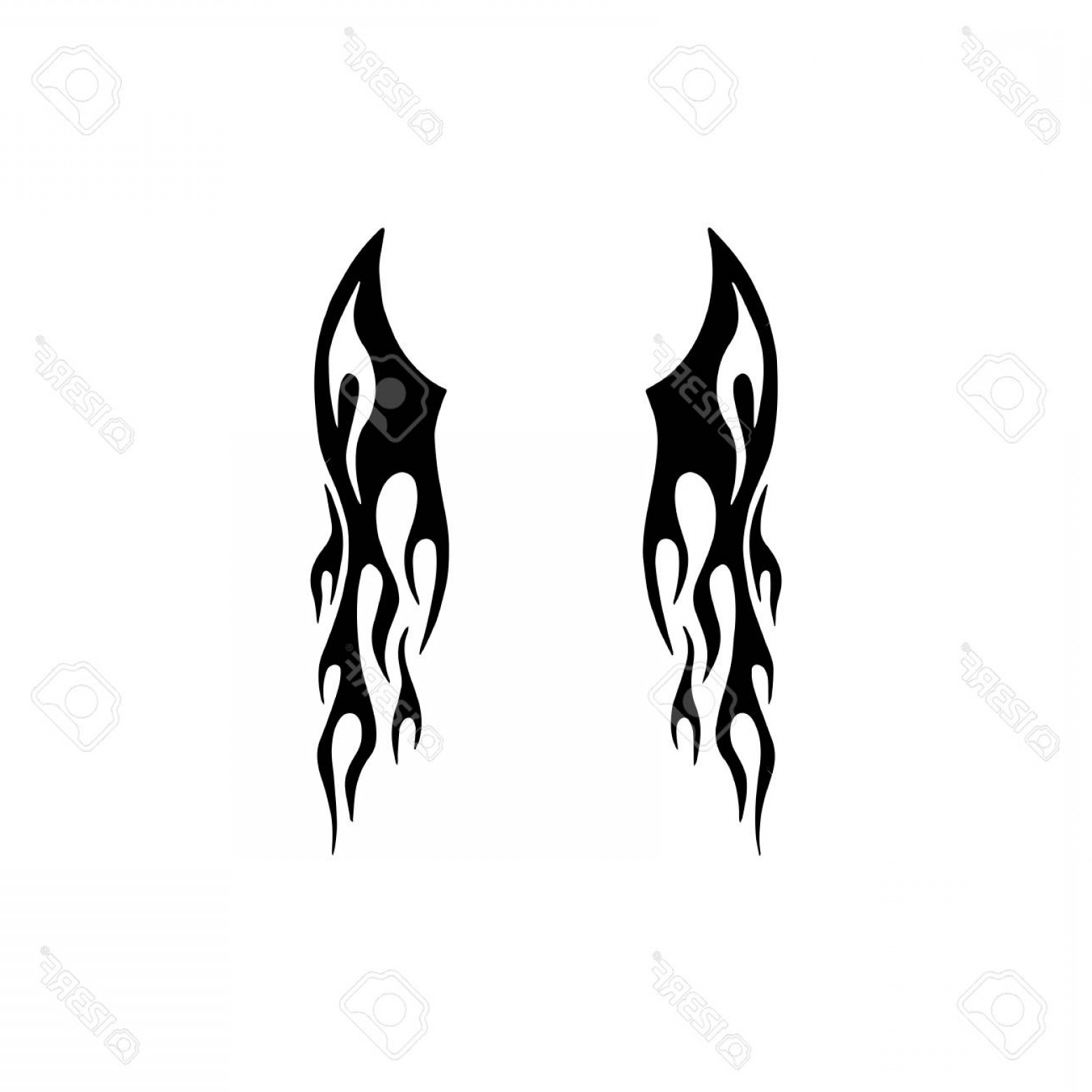 Angel Wings Tattoo Tribal Vector: Tribal Wing Tattoo Design Royalty Free Cliparts Vectors And Stock Fbbbe