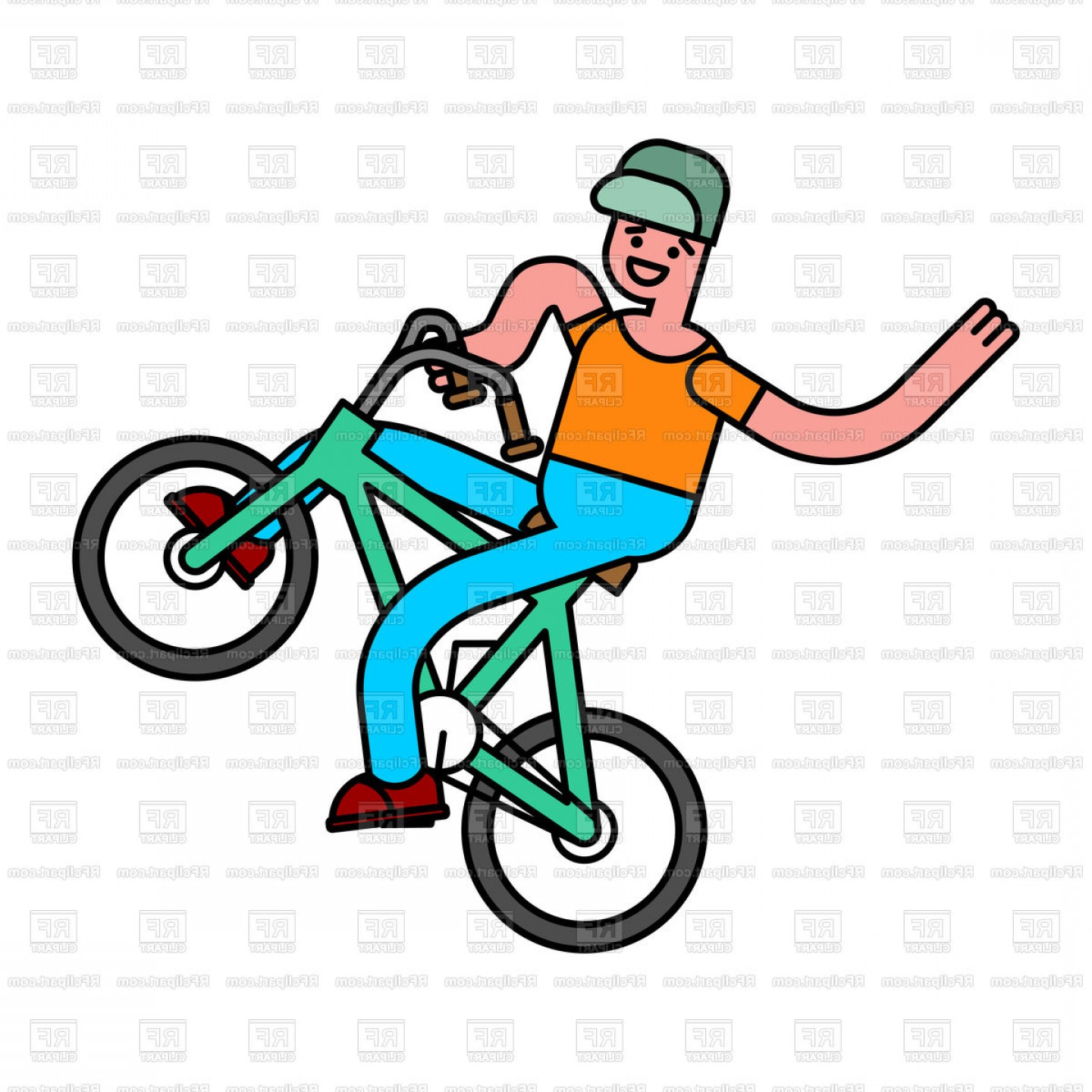 BMX Bike Tire Vector: Tricks On Bicycle Guy On Bike Repent Of Bmx Vector Clipart