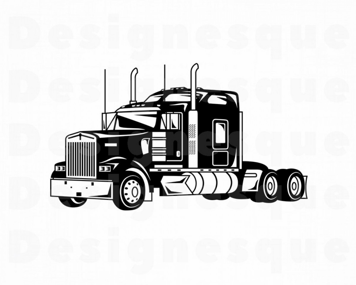 Vector Truck And Trailer Hauling: Truck Svg Truck Svg Trucking Svg