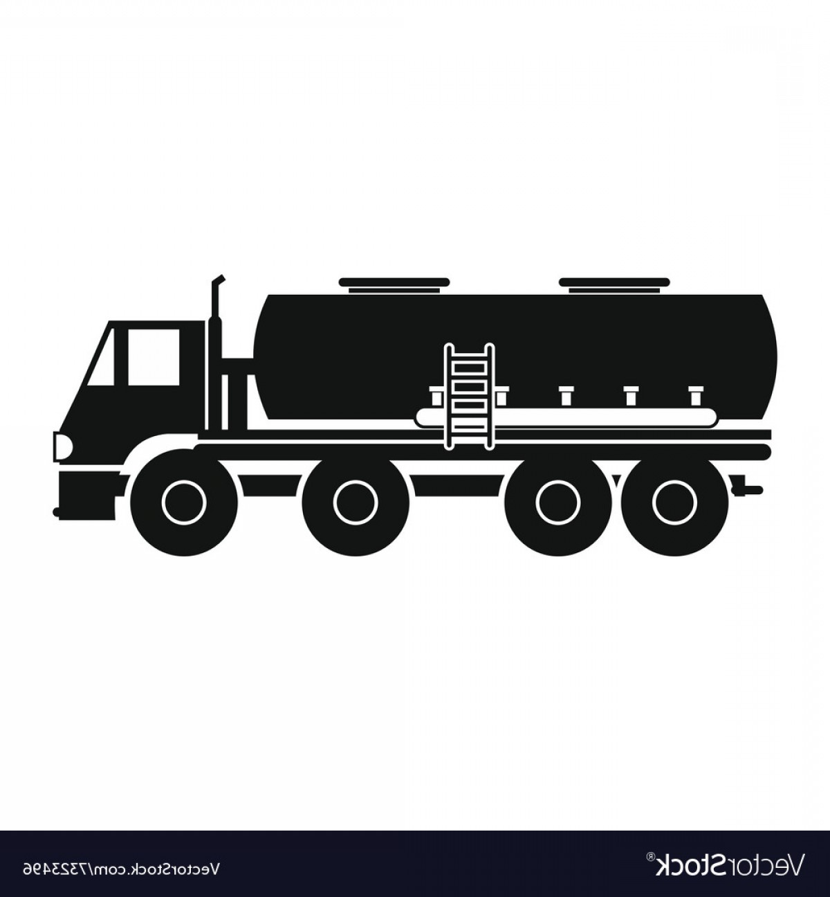 Tank Trucks Vector Art: Truck With Fuel Tank Icon Vector