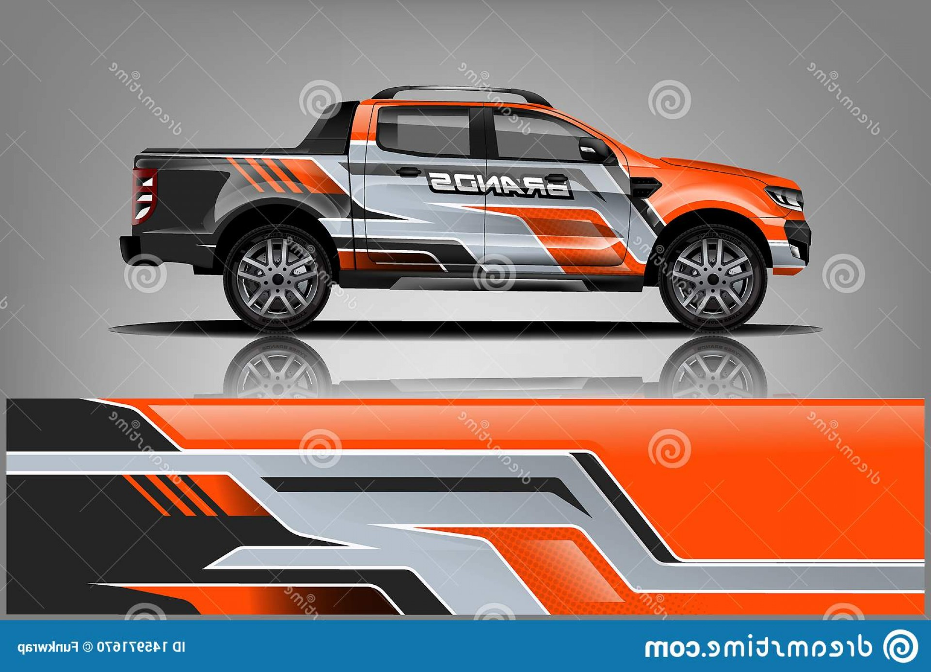 Vector Car Wrapped: Truck Wrap Livery Design Ready Print Van Vector Double Cabin Eps Jpeg High Resolution Image