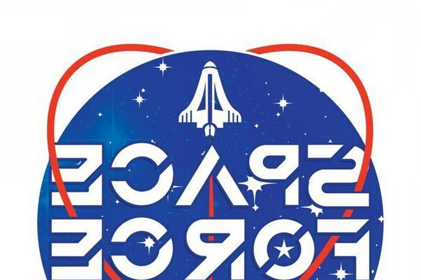 United States Armed Forces Logo Vector: Trump Space Force Logo Branding Military Branch