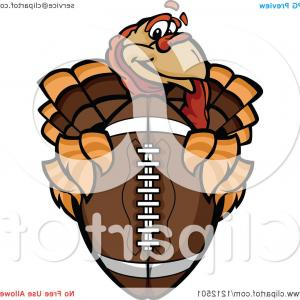 Free Football Vector Clip Art: Royalty Free Vector Logo Of A Brown American Football Spinning By Vector Tradition Sm