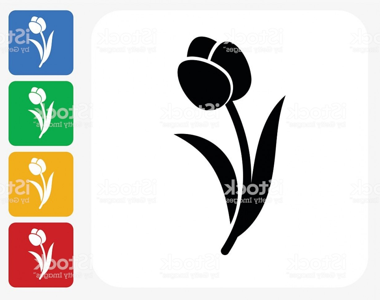 Tulip Icon Vector: Tulip Icon Flat Graphic Design Gm