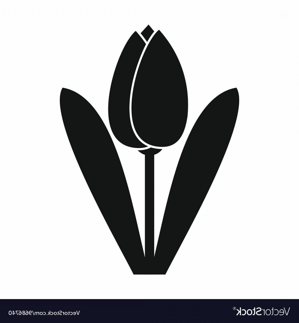 Tulip Icon Vector: Tulip Icon Simple Style Vector