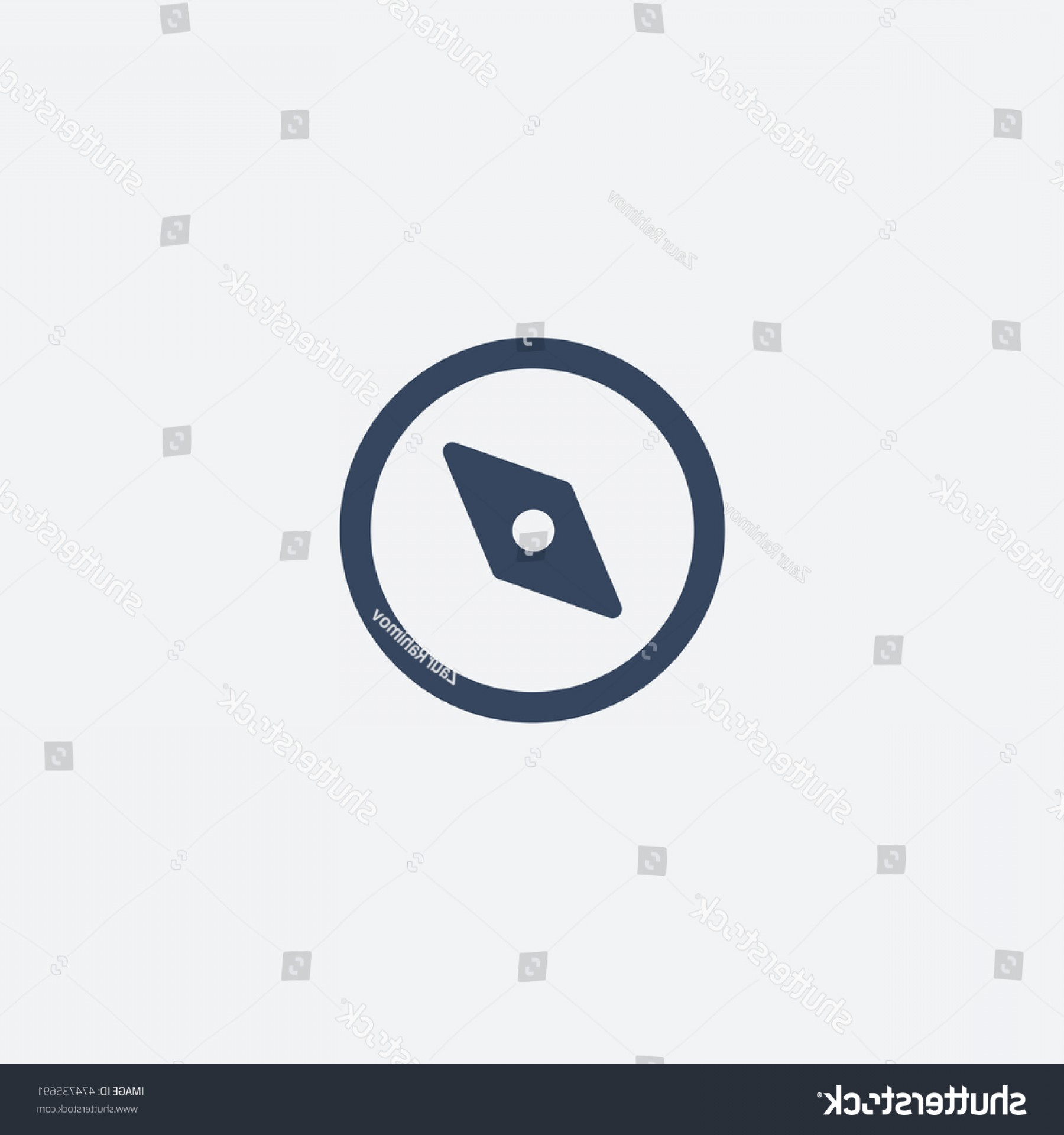 Tumblr Circle Icon Vector: Tumblr Explore Icon Vector Compas Isolated