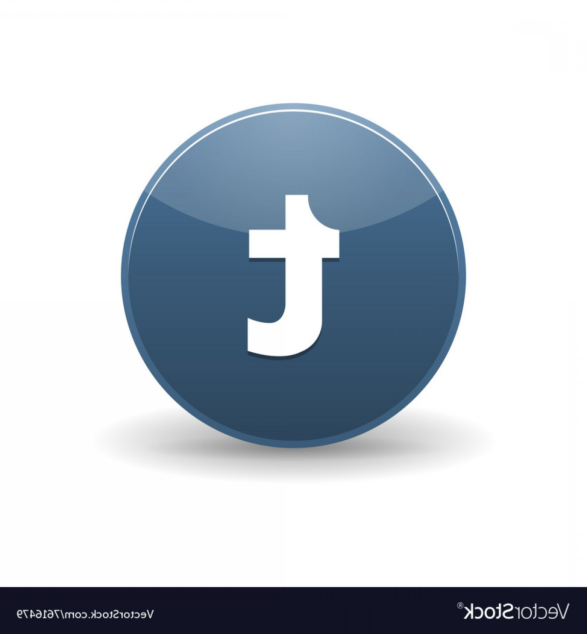 Tumblr Circle Icon Vector: Tumblr Icon Simple Style Vector