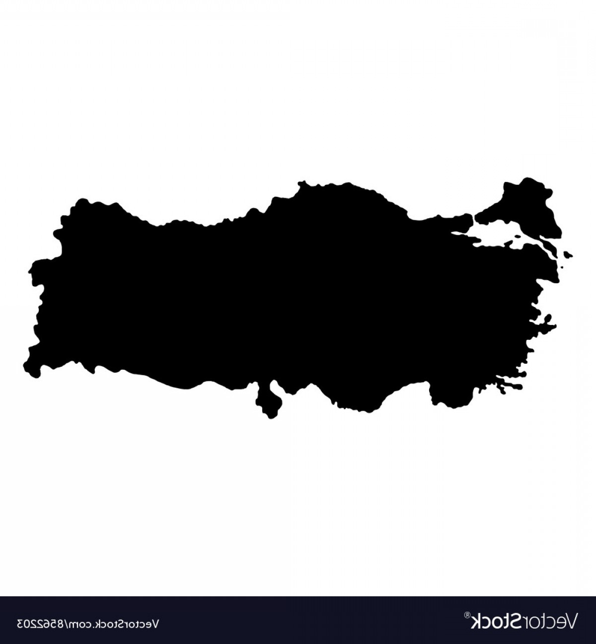 BG Vector Map: Turkey Map On A White Background Vector