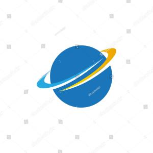 Orbit Vector: Two Color Orbit Vector Icon Orientation Concept Isolated Blue Sign Symbol Can Be Use Web Mobile Logo Eps Image