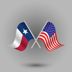 Texas American Flag Vector: Photostock Vector Texas American State With Flag Silhouette
