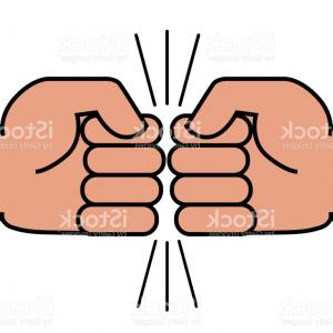 Emoji Fist Bump Vector Graphic: Two Fists Bumping Together Gm
