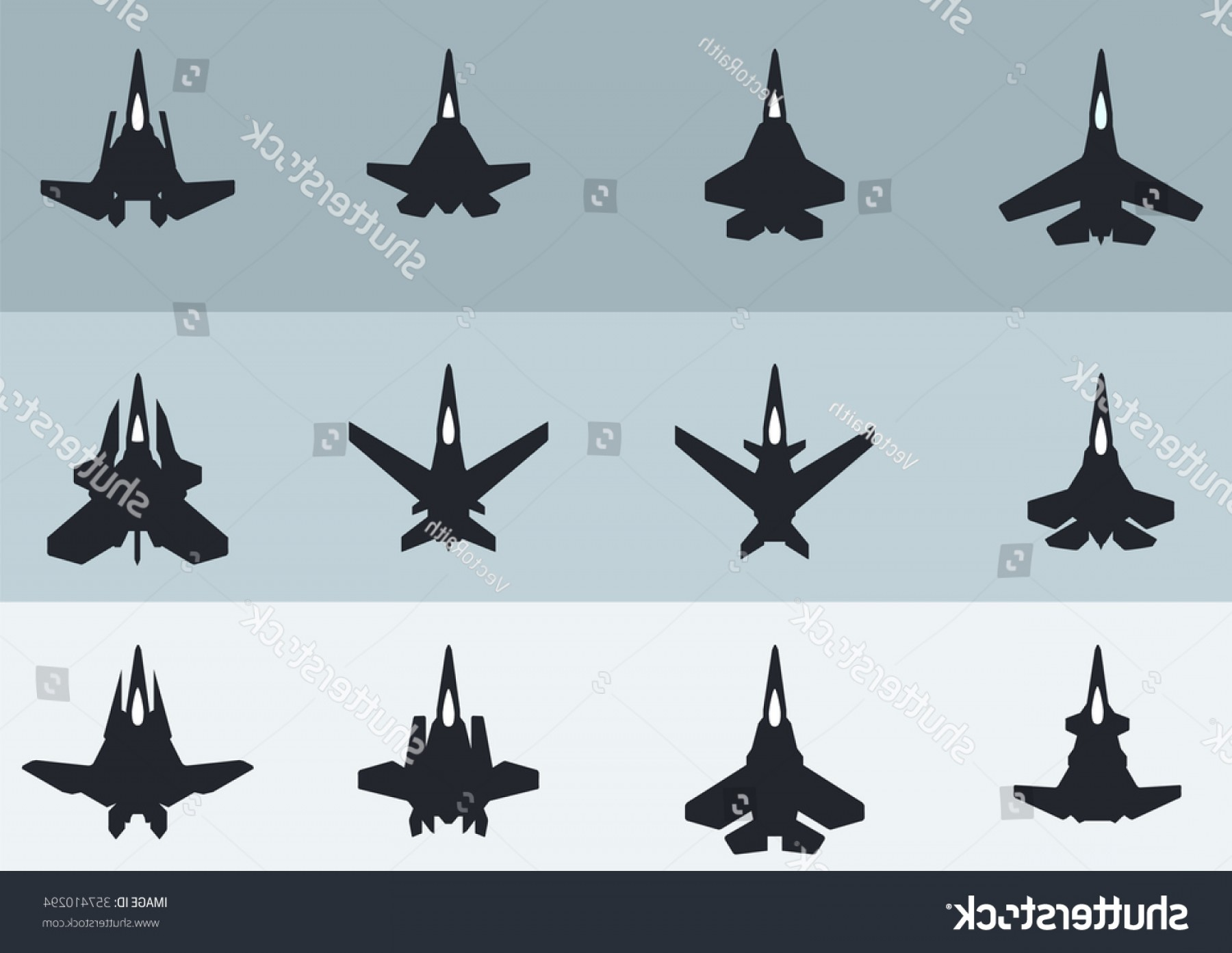 Vector Jet Fighter: Twelve Modern Futuristic Jet Fighter Aircraft