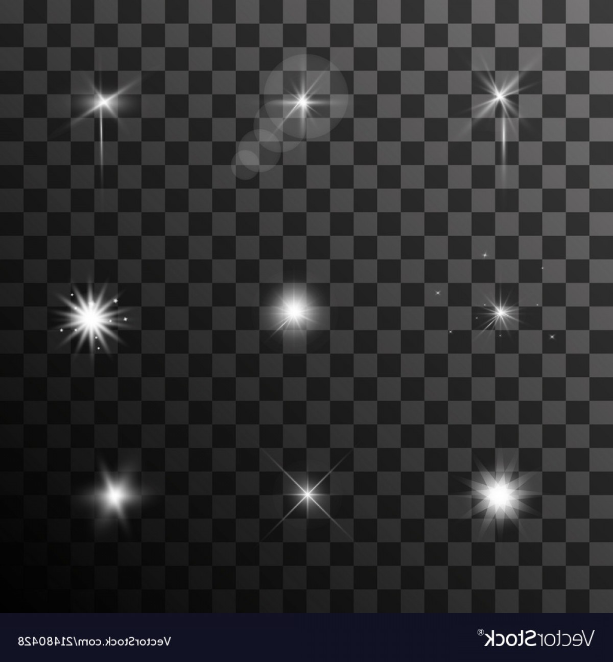 Twinkle Light Vector: Twinkle Lens Flares Glare Lighting Effects Vector