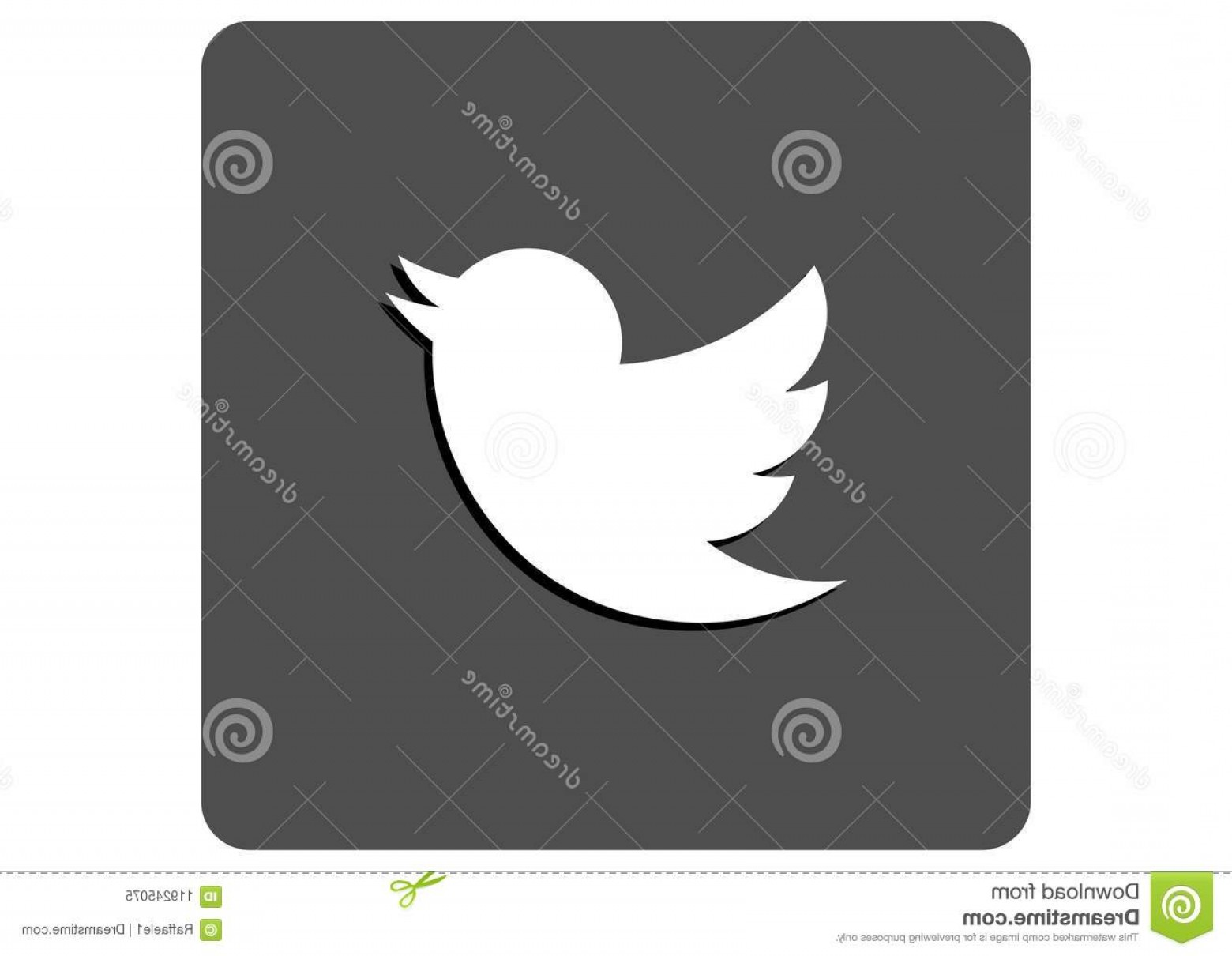 Illustrator Vector Format: Twitter Social Media Logo Twitter Social Media Logo Grey Scale Vector Format Available Illustrator Ai Image