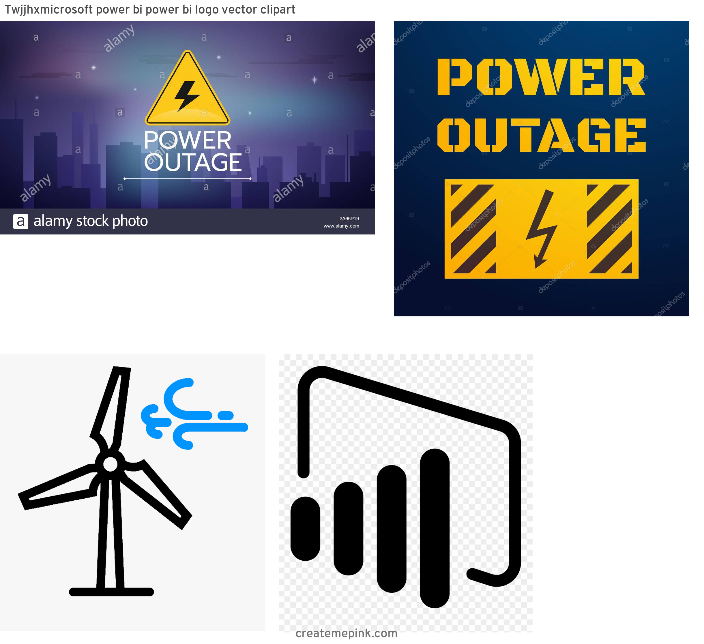 Vector Power Outage: Twjjhxmicrosoft Power Bi Power Bi Logo Vector Clipart