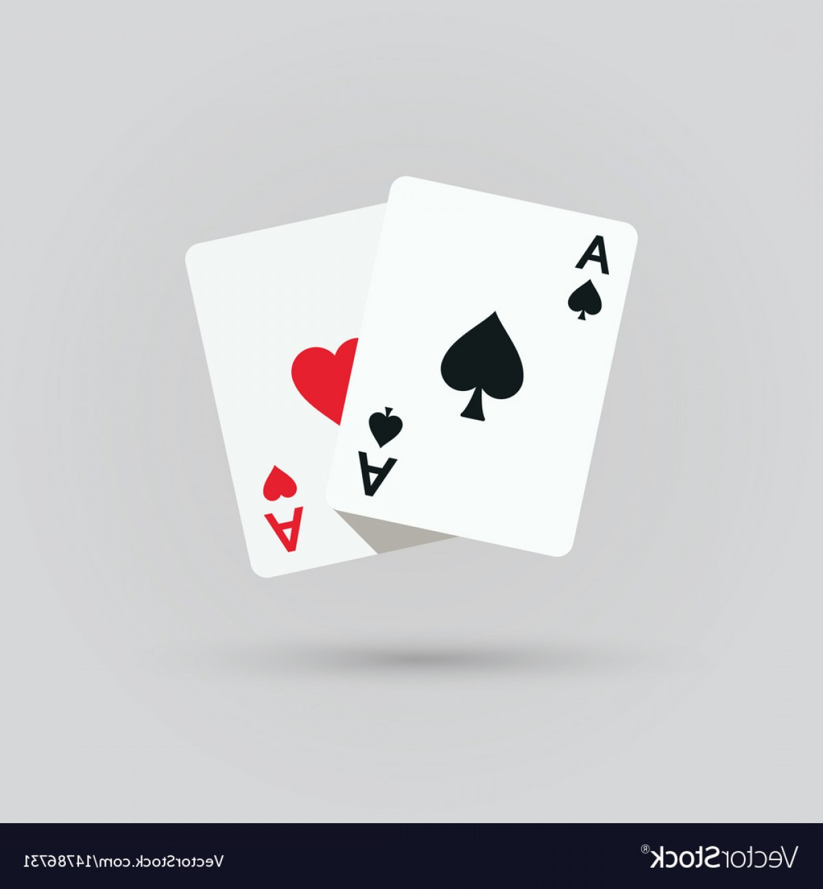 Poker Hand Vector: Two Aces Winning Poker Hand Vector