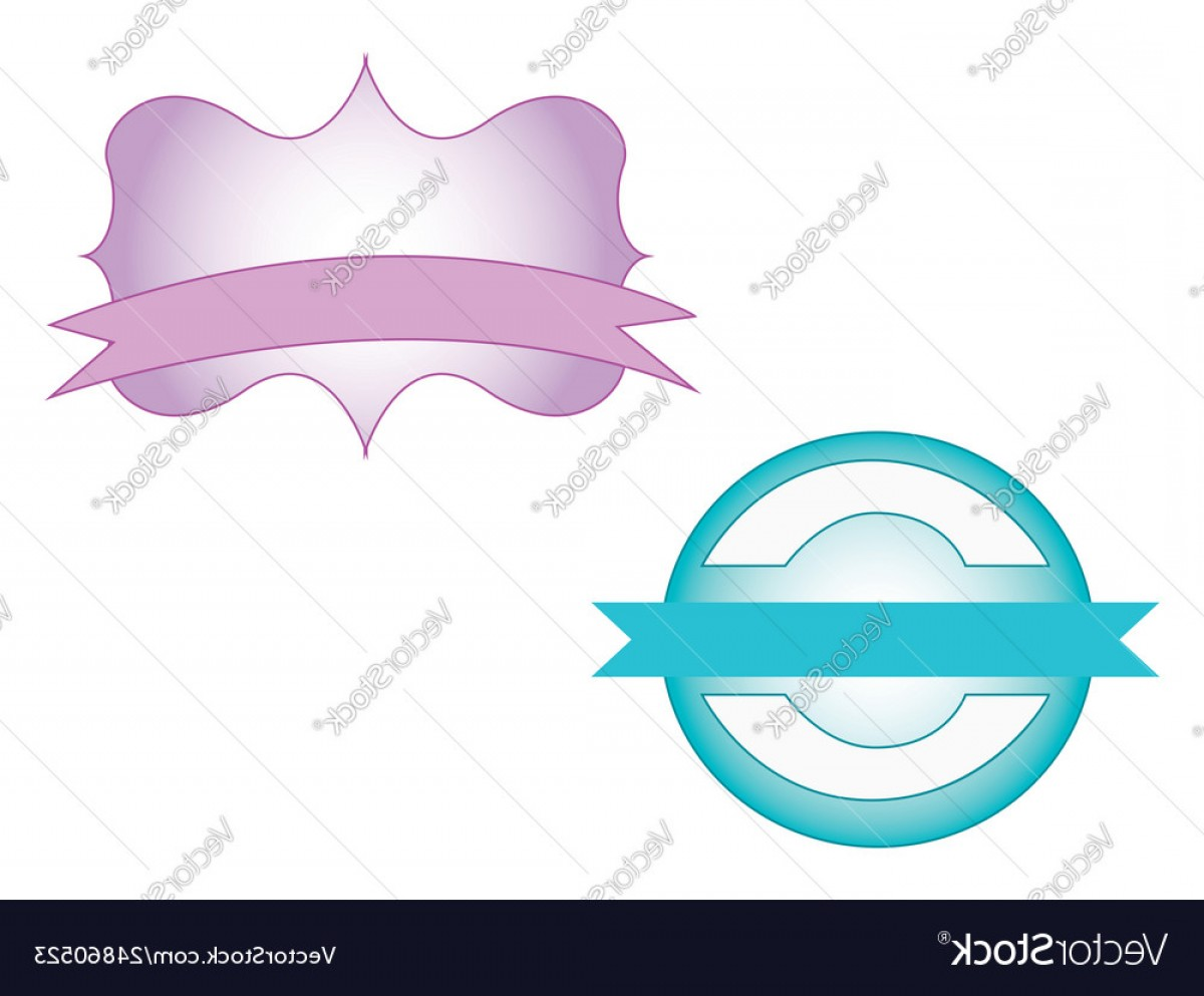 What Are Vectors Used For: Two Beautiful Ribbons To Be Used For Purpose Vector