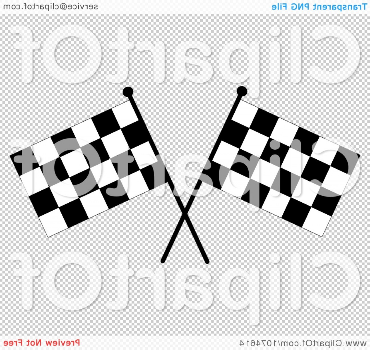 Checkered Flag Background Vector: Two Crossed Checkered Racing Flags