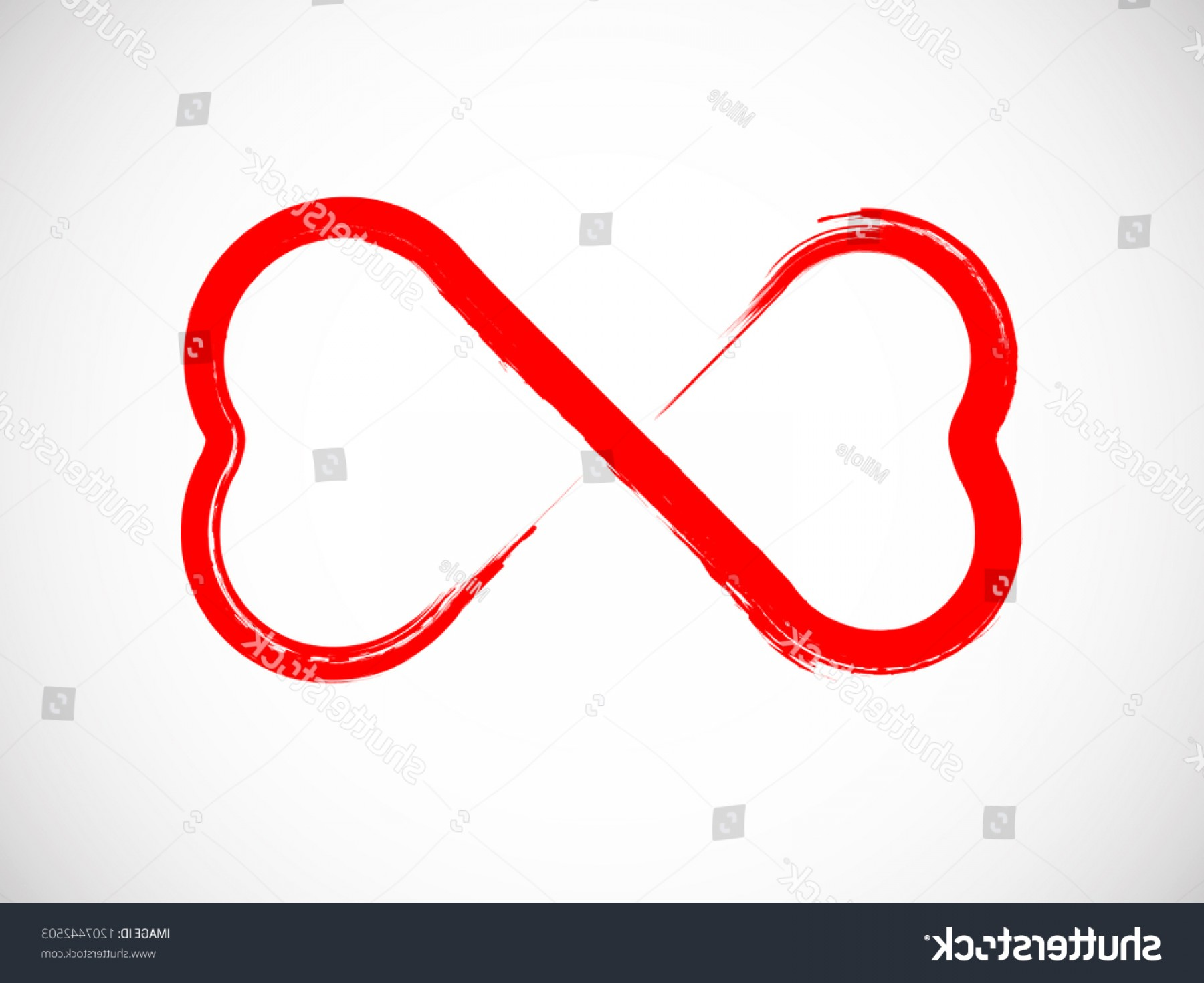 Infinity Grunge Heart Vector: Two Heart Love Grunge Infinity Symbol