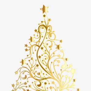 Christmas Tree Vector Illustration: Uaoyiitestarry Christmas Tree Gold No Background Gold Christmas