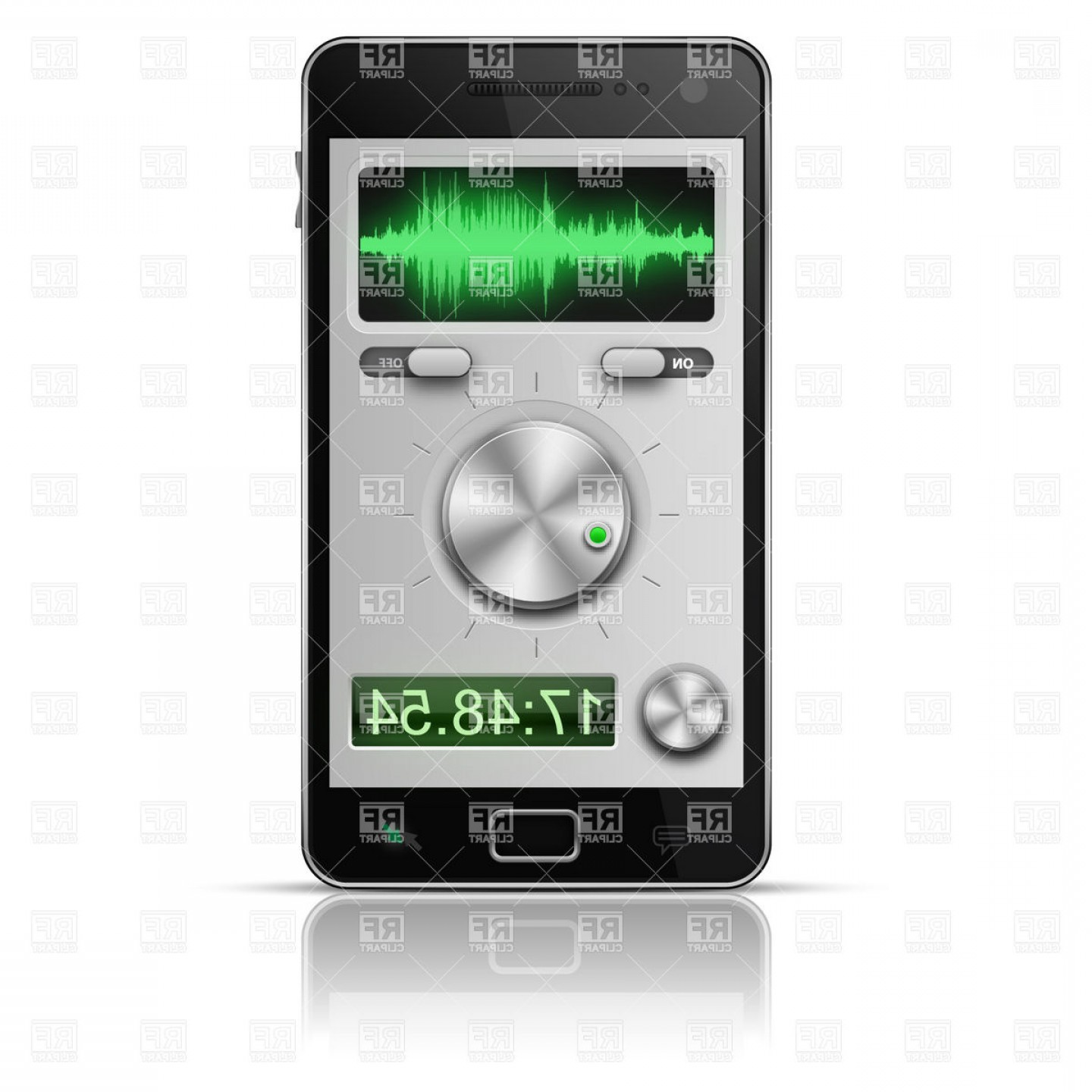 Free Vector File Software: Ui Elements For Smartphone Audio Software Vector Clipart