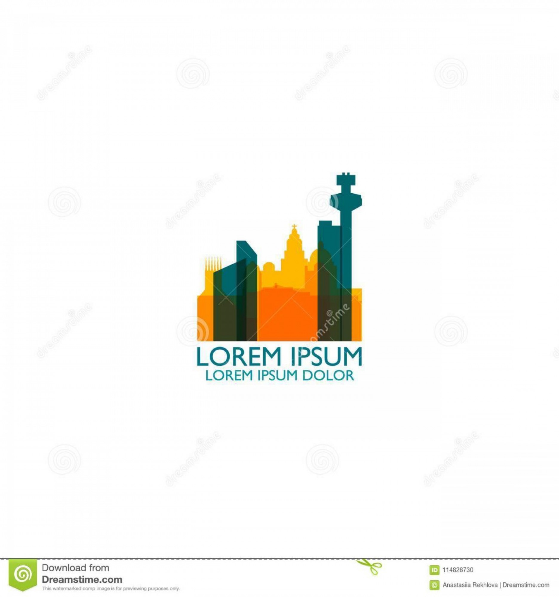 Cool Logo Icon Vector: Uk Great Britain England Liverpool City Skyline Landscape Silhouette Vector Logo Icon Cool Urban Horizon Illustration Concept Image