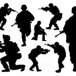 U.S. Soldier Silhouette Vector: Unique Military Silhouette Clip Art Photos