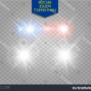 Headlight Vector Png: Unique Police Car Glow Special Light Effect