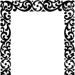 Square Black Vector Border Frame: Unique Vgosn Free Vector Art Clip Vintage Border Cdr