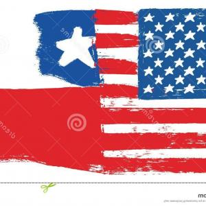 US Flag Vector Lines: American Flag Vintage Background Vector