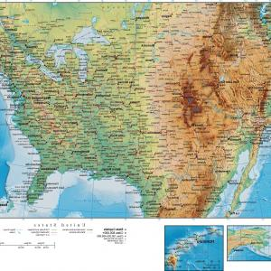 Illustrator Vector Format: United States Digital Vector Raster Terrain Map Usa Xx