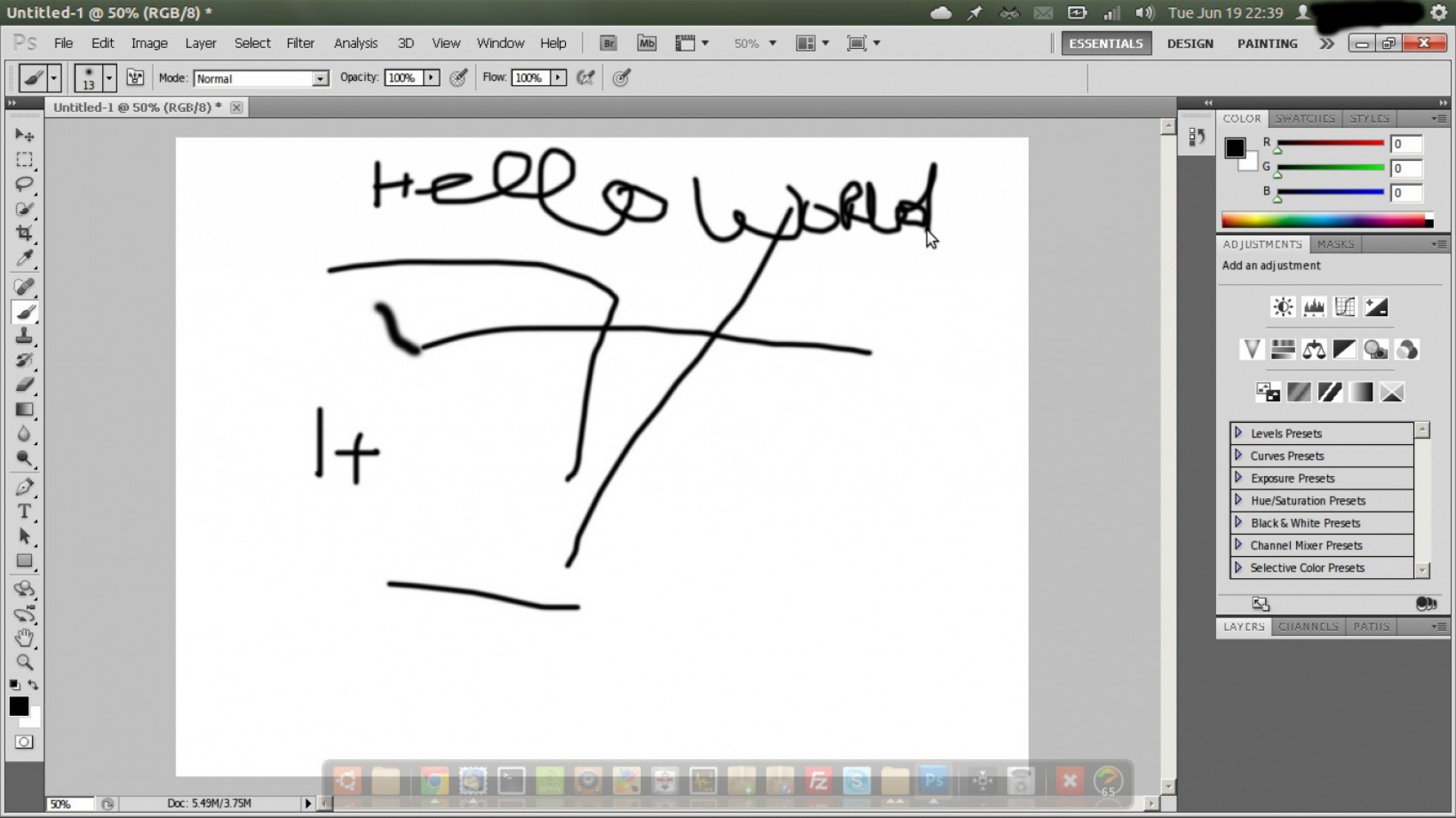 Vector In Photoshop CS5: Unable To Drag Brush Tool In Photoshop Cs In
