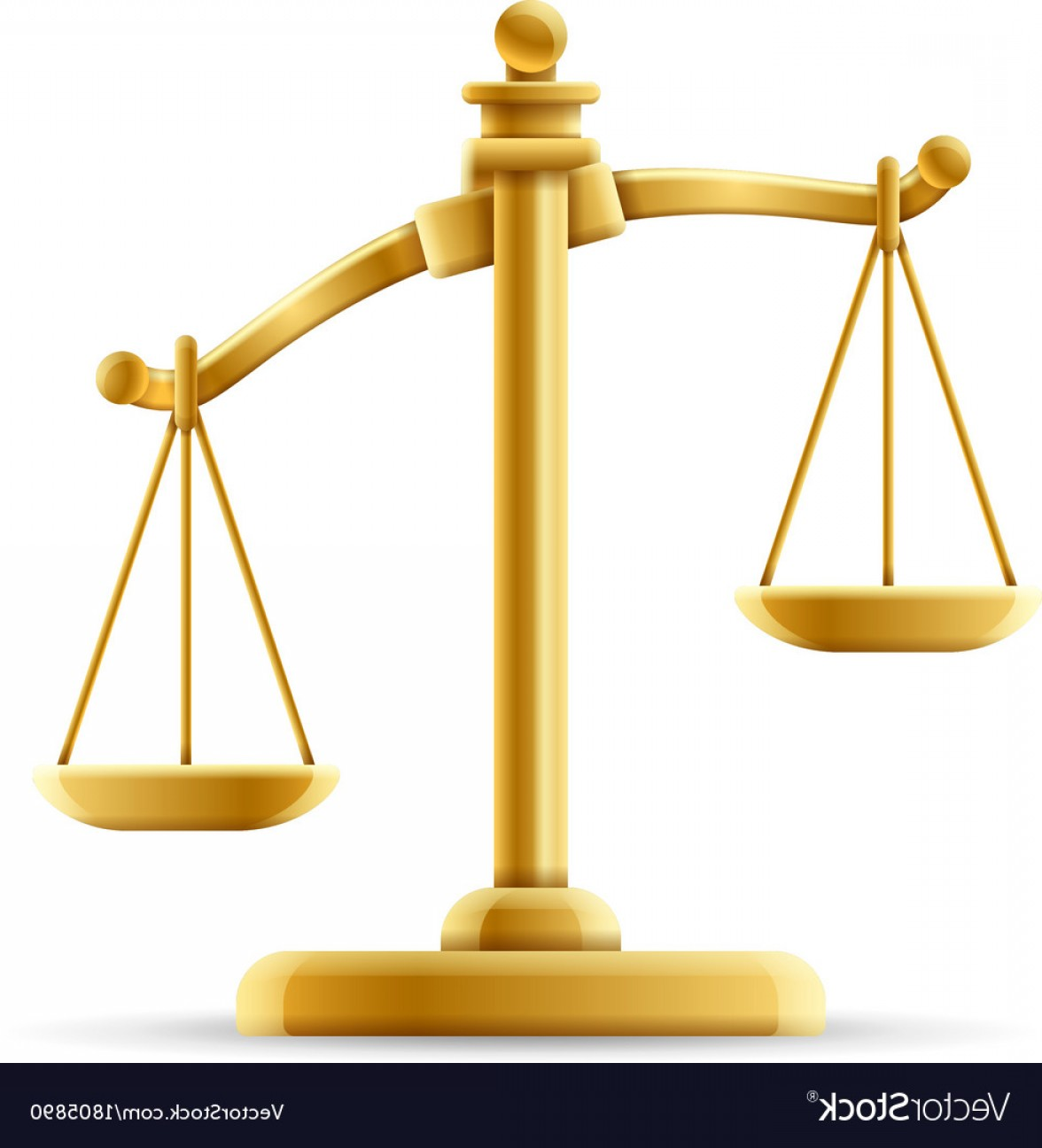 Scales Of Justice Vector: Unbalanced Scale Of Justice Vector