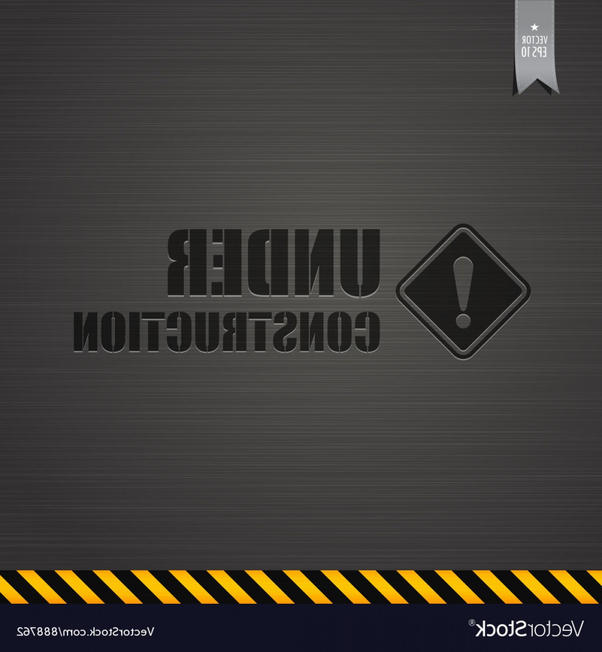 Vector Under Construction Template: Under Construction Template Background Vector