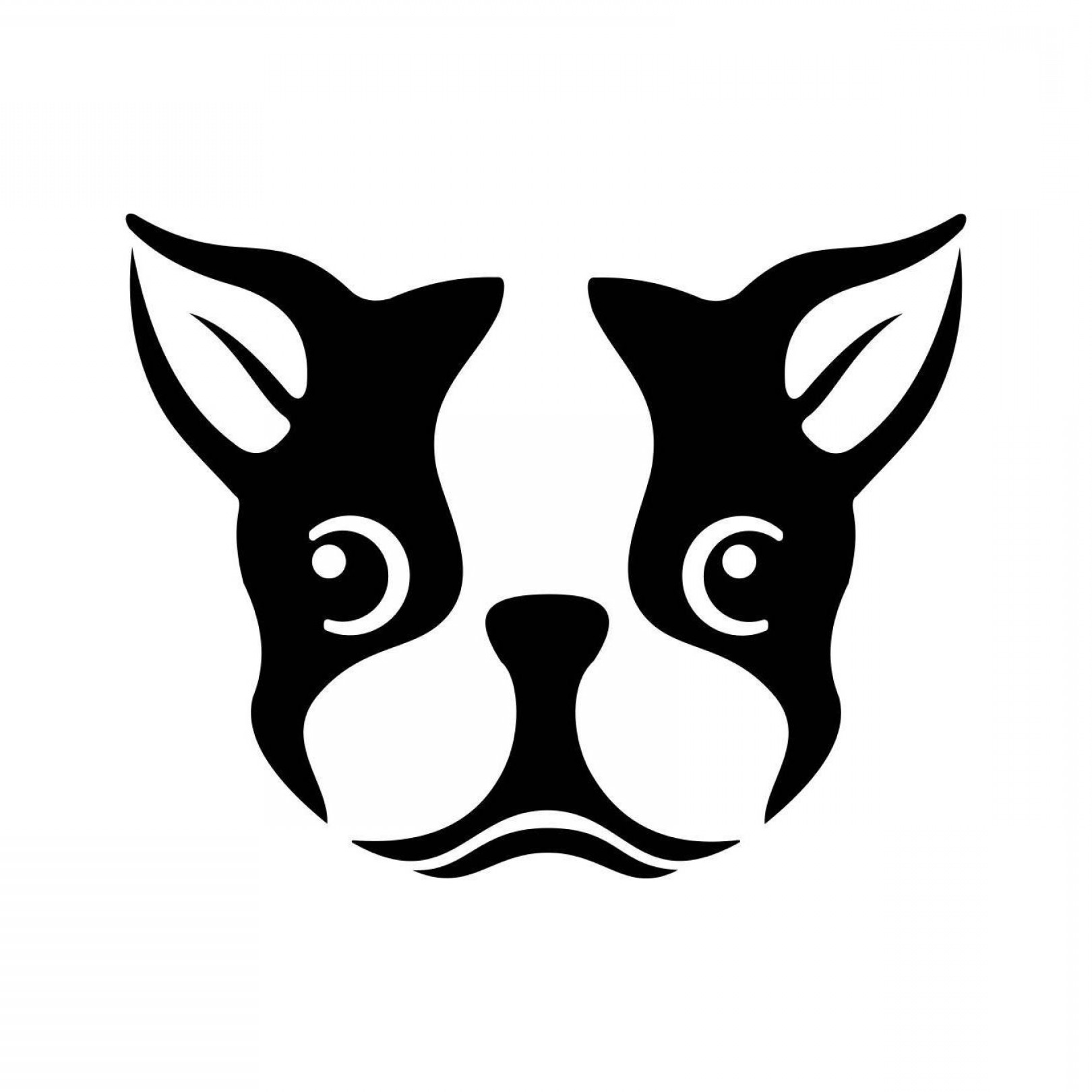 Bulldog Vector Art: Unique Best Bulldog Head Silhouette Library File Free