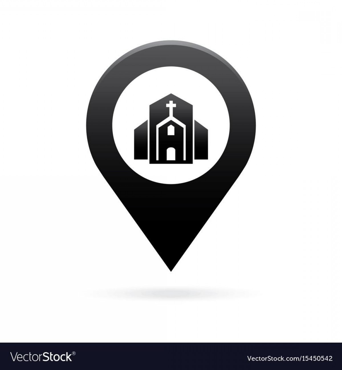 Unique Pointer Vector: Unique Church Map Pointer Icon Marker Gps Location Flag Vector Images
