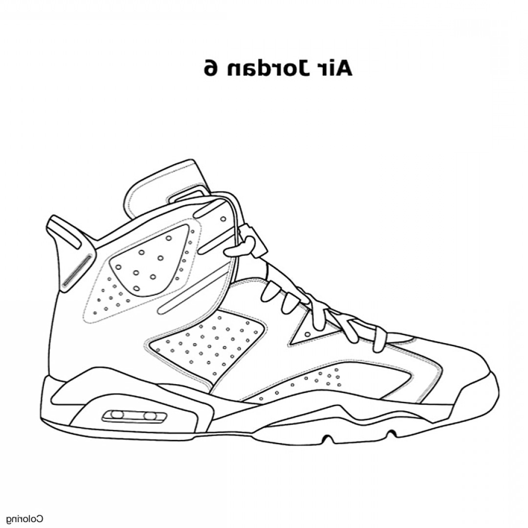 Nike Volleyball Vector Designs: Unique Design Shoe Coloring Book Nike Jordan Sneakers Page Free Printable Pages Within In