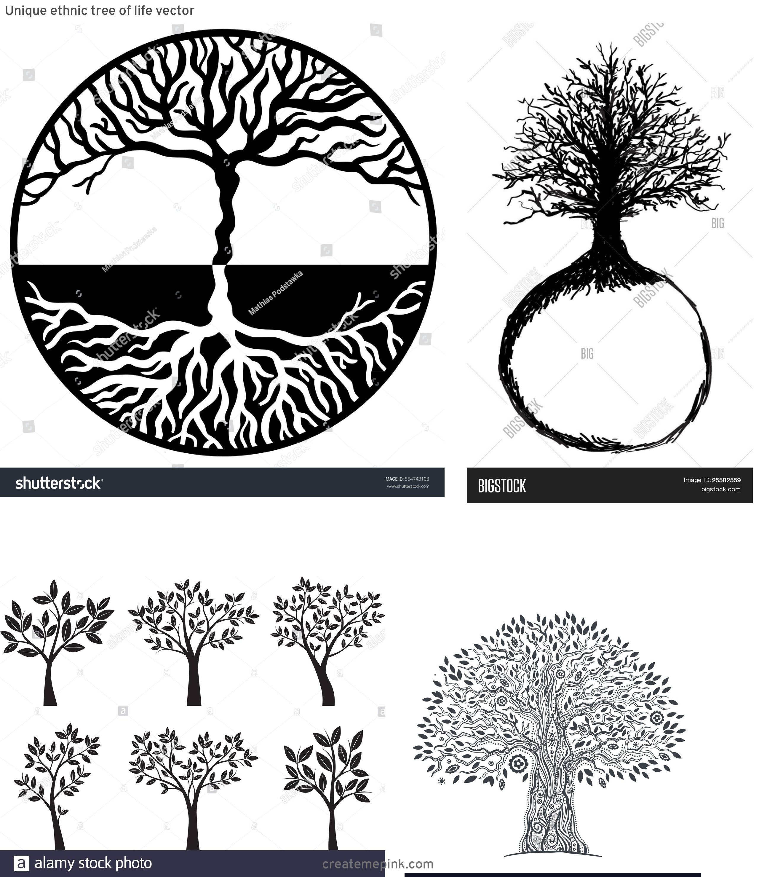 Vector Images Black Tree Of Life: Unique Ethnic Tree Of Life Vector