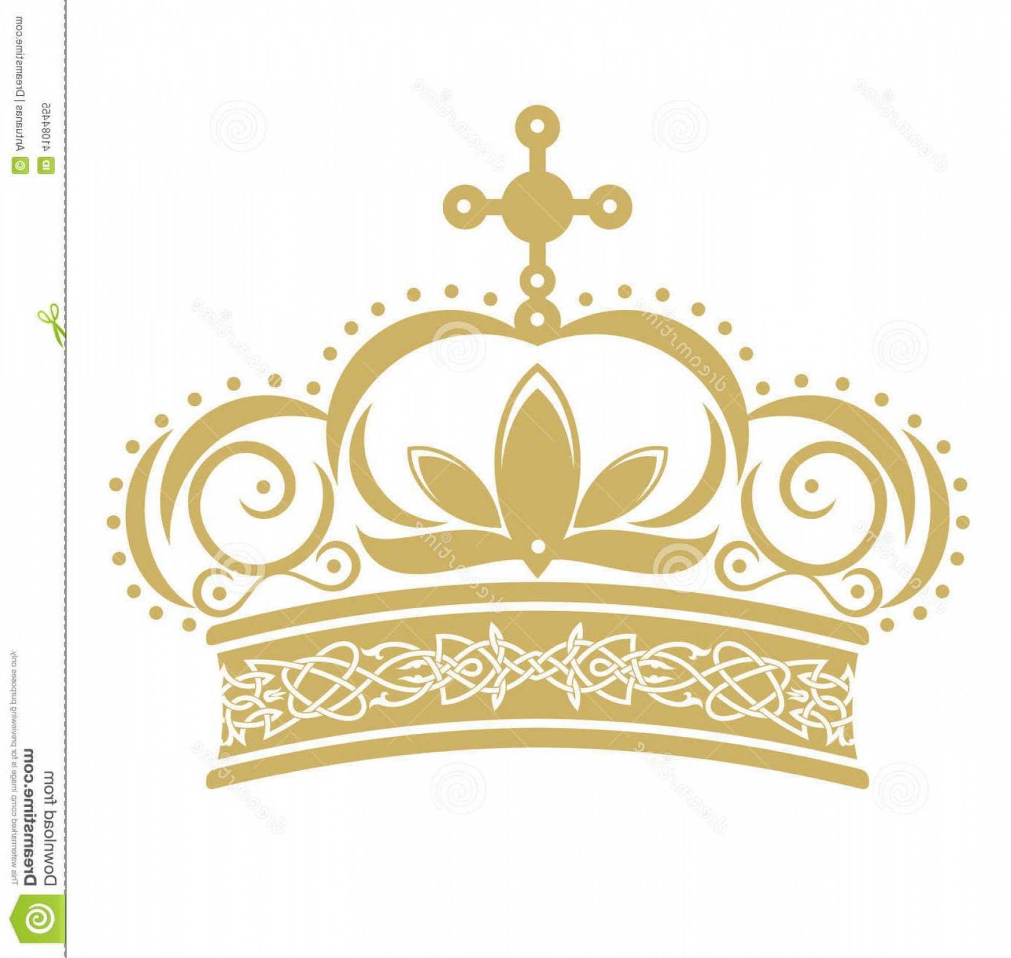 Pageant Tiaras Vector: Unique Golden Crown Vector Format White Background Library