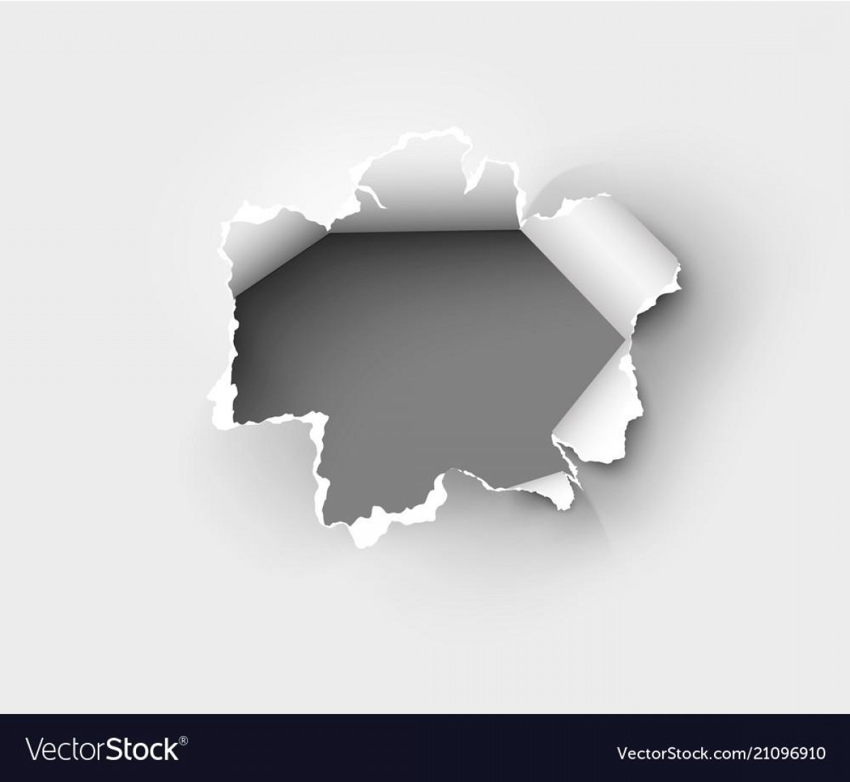 Ripped Black And White Vector: Unique Hole Torn In Ripped Paper On White Back Vector Cdr