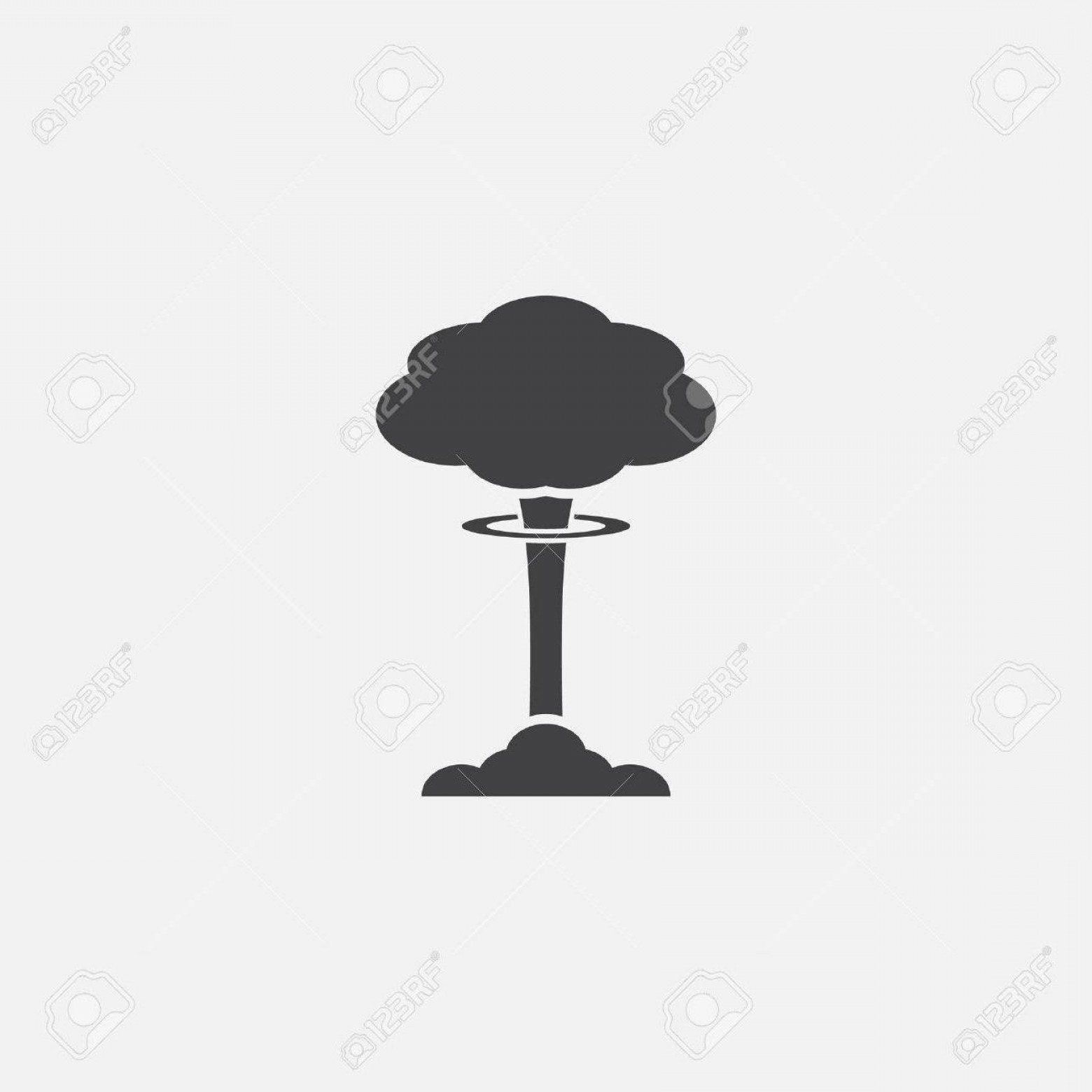 Atomic Bomb Explosion Vector: Unique Mushroom Cloud Cartoon Vector File Free