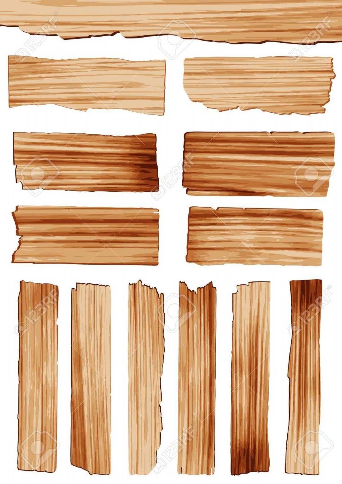 Wood Plank Vector Art: Unique Vector Wood Plank Sign Vector File Free