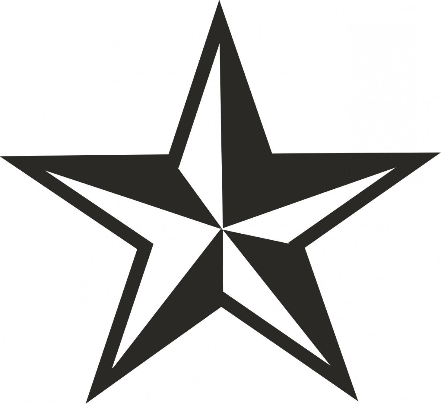 Nautical Star Vector Logo: Unique White Star Decals Vector Library