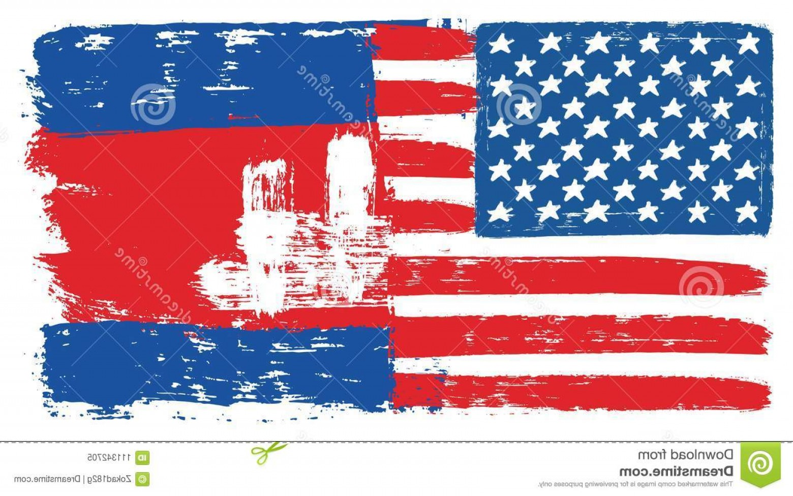 US Flag Vector Lines: United States America Flag Cambodia Vector Hand Painted Rounded Brush Image Illustration Can Be Scaled To Image