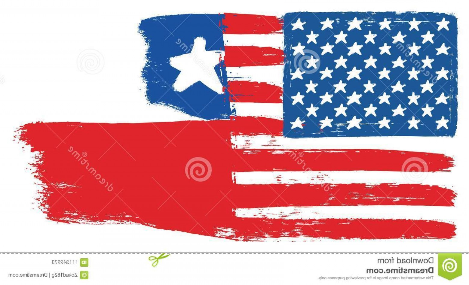 US Flag Vector Lines: United States America Flag Chile Flag Vector Hand Painted Rounded Brush Image Vector Illustration Can Be Image