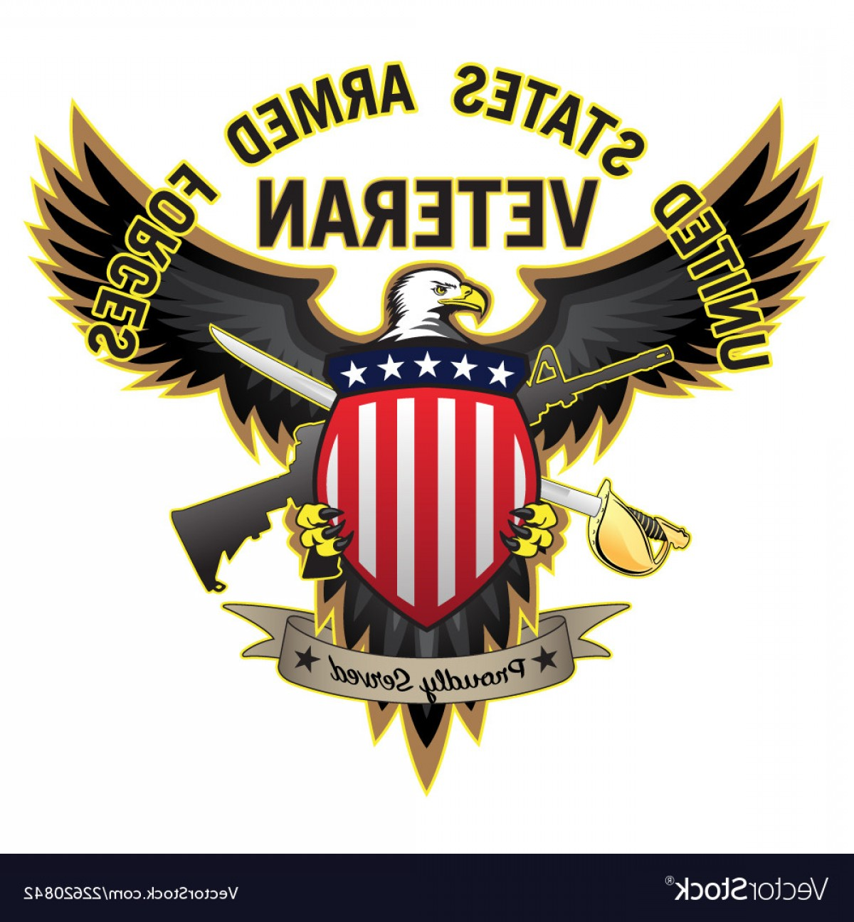 United States Armed Forces Logo Vector: United States Armed Forces Veteran Vector